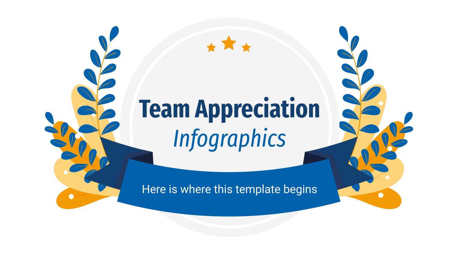 Plantilla de presentación Infografías de agradecimiento al equipo