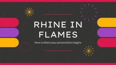 Plantilla de presentación Rin en llamas