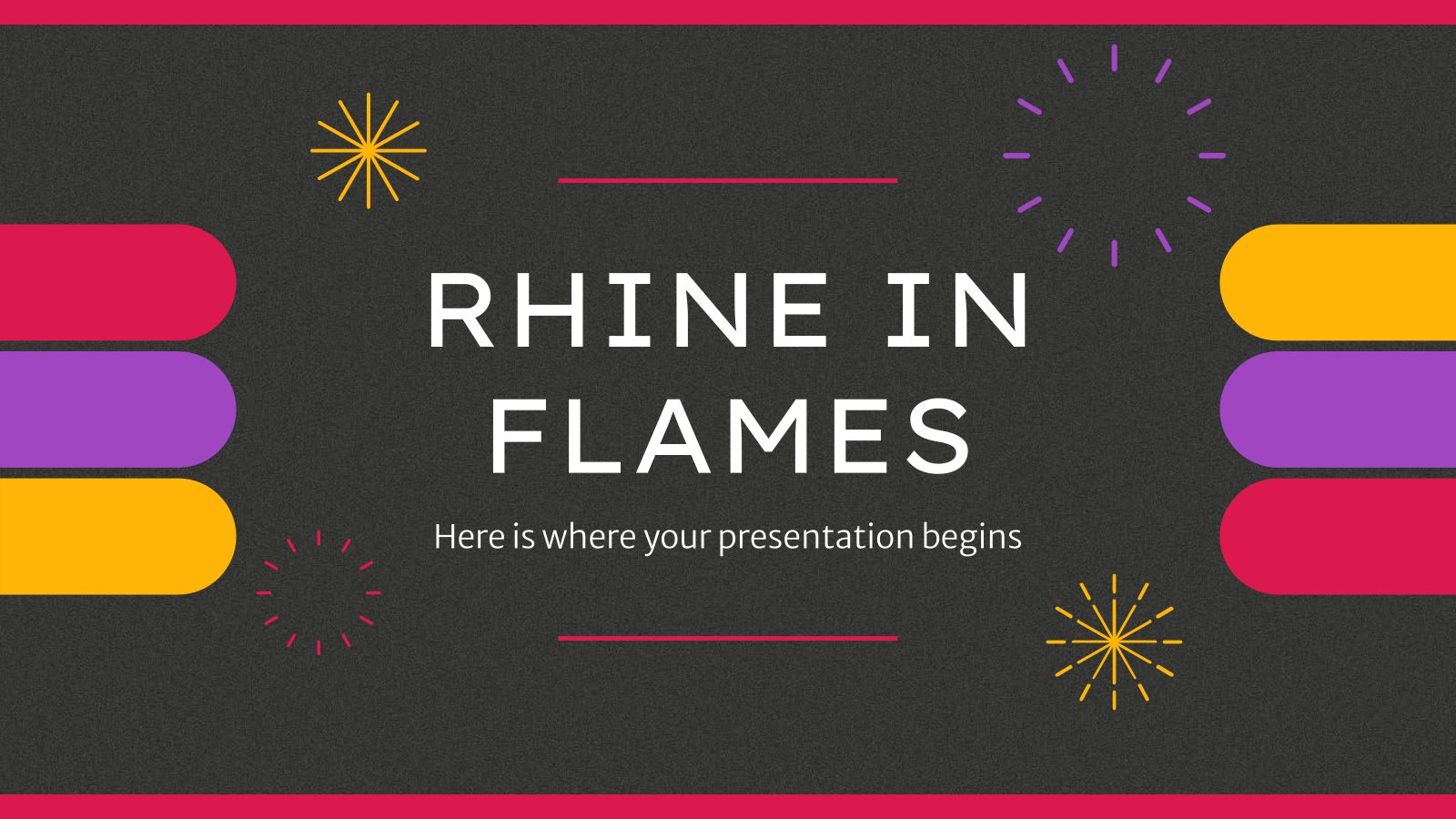 Rhine in Flames presentation template