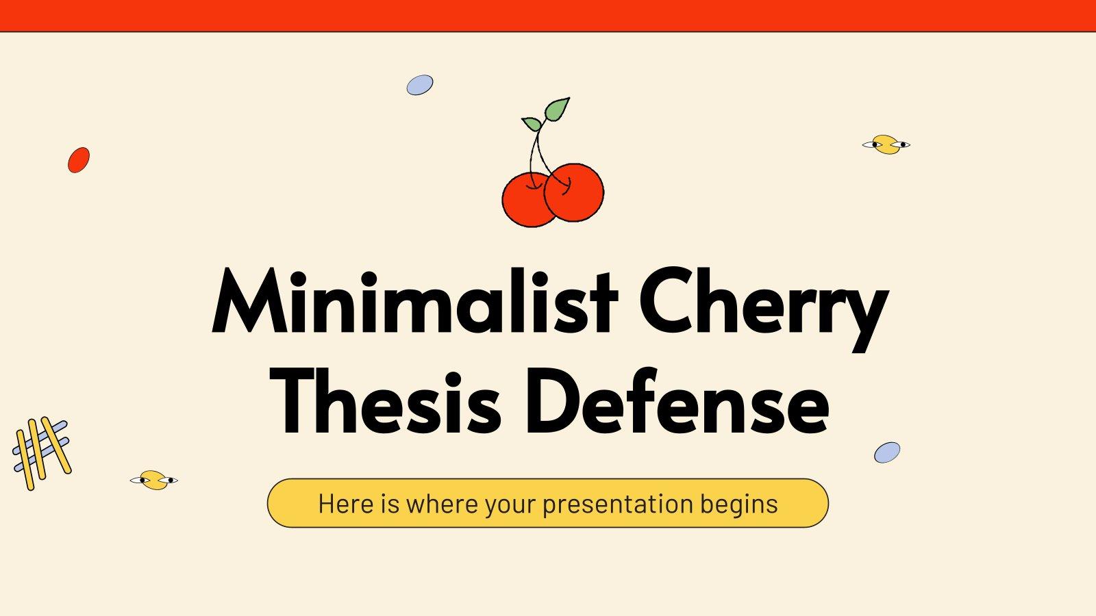 Soutenance de thèse minimaliste avec des cerises : Modèles de présentation