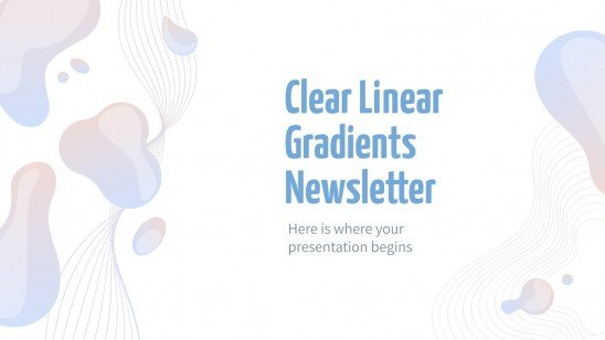 Newsletter claire à dégradé linéaire : Modèles de présentation