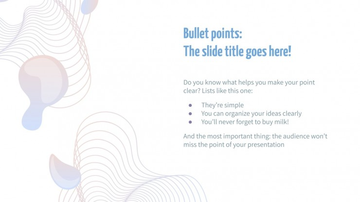 Clear Linear Gradients Newsletter presentation template