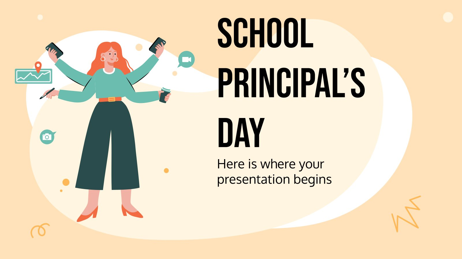 School Principal's Day presentation template