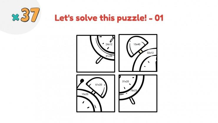 Puzzles de multiplication à deux chiffres : Modèles de présentation