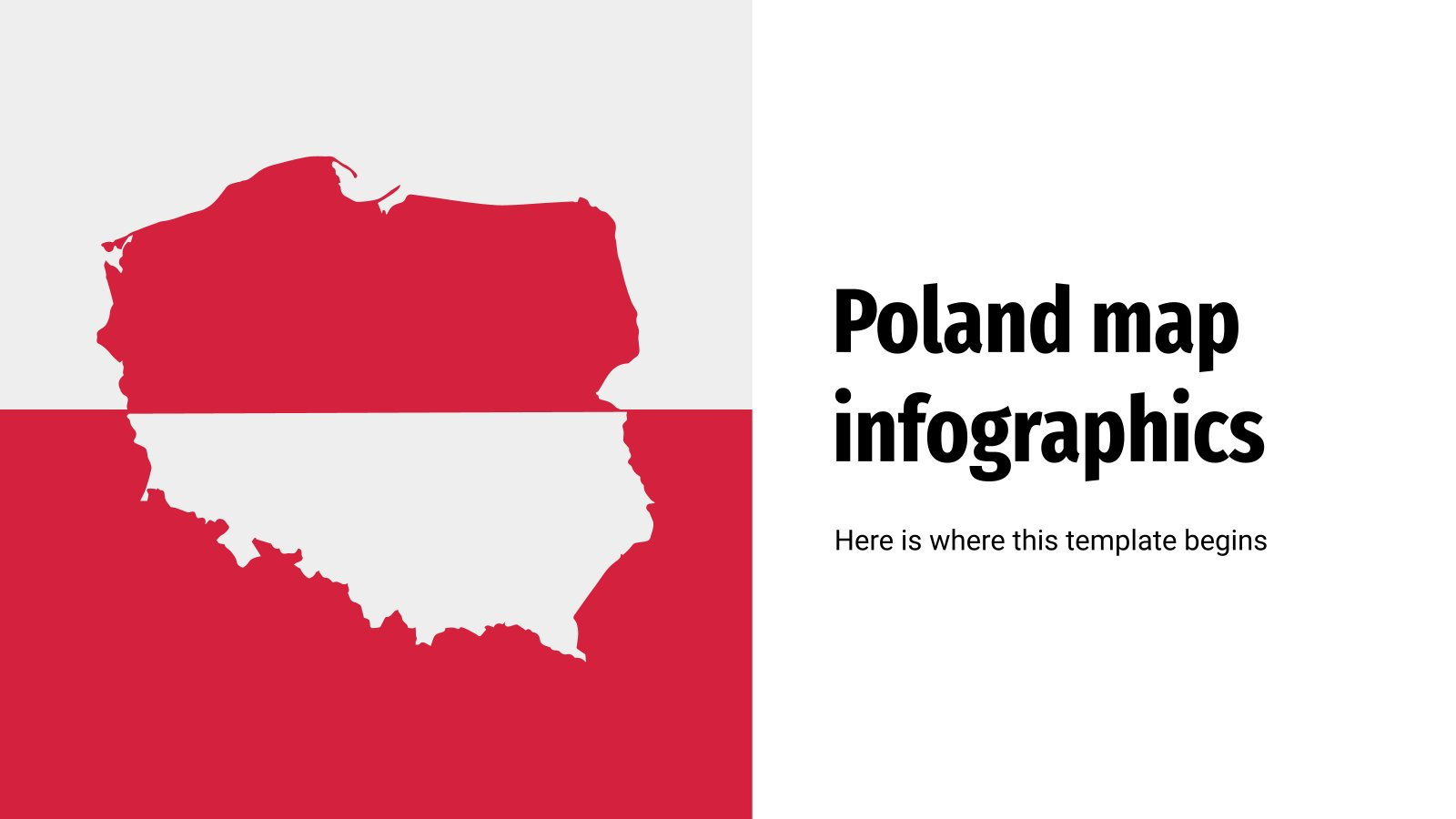 Poland Map Infographics presentation template