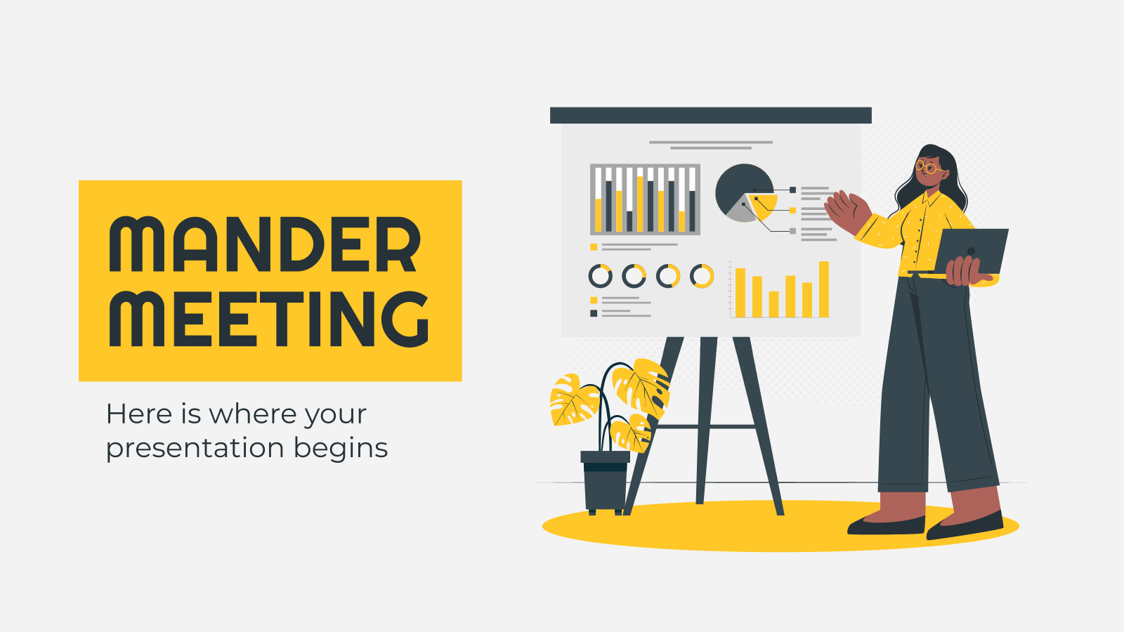 Mander Meeting presentation template