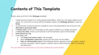 Cool Birthday Party presentation template
