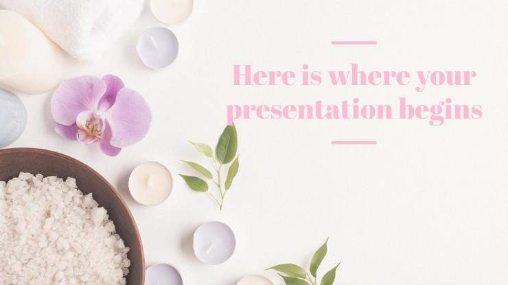 Plantilla de presentación Spa y relax