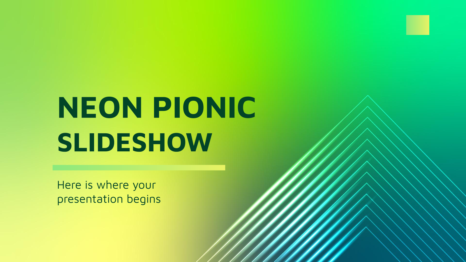 Neon Pionic Slideshow presentation template