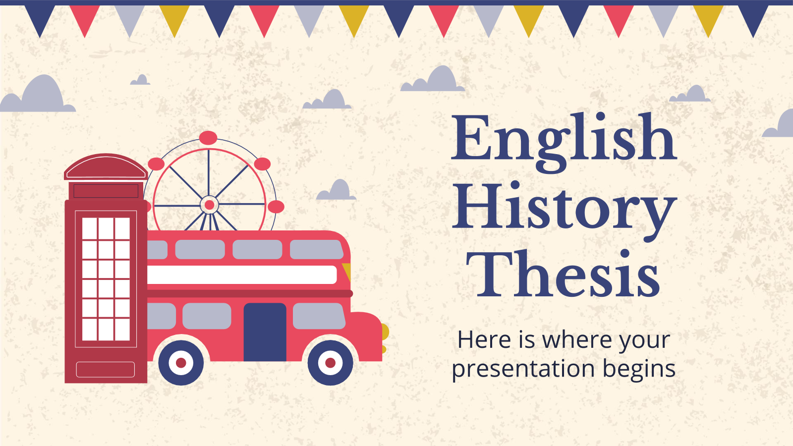 English History Thesis presentation template