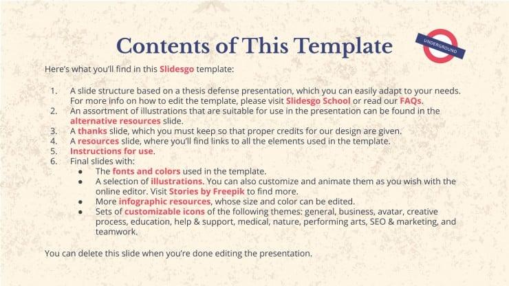English History Thesis presentation template