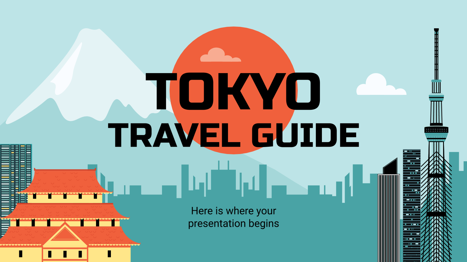 Travel Guide: Tokyo presentation template