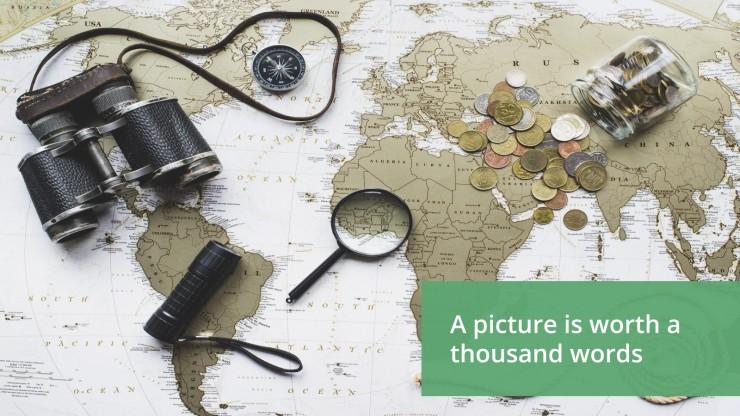Plantilla de presentación Diseño simple para viajes