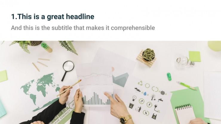 Simple Business presentation template