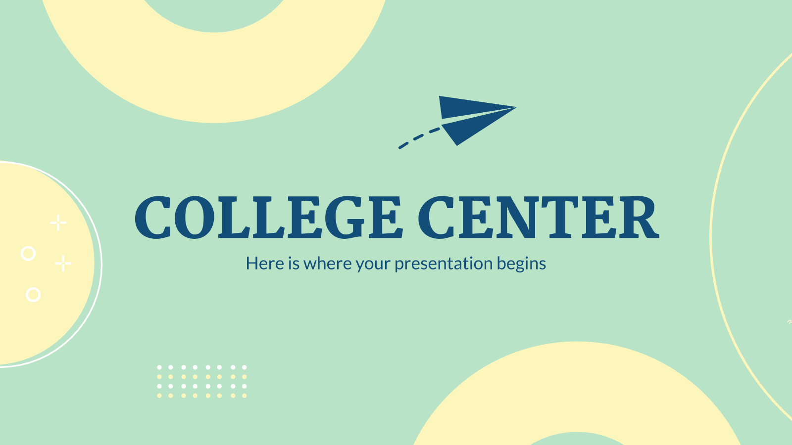 College Center presentation template