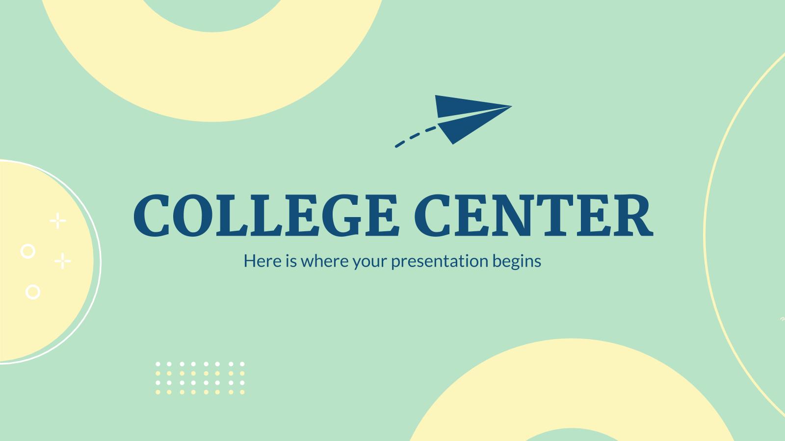 Modelo de apresentação Apresentação de faculdade
