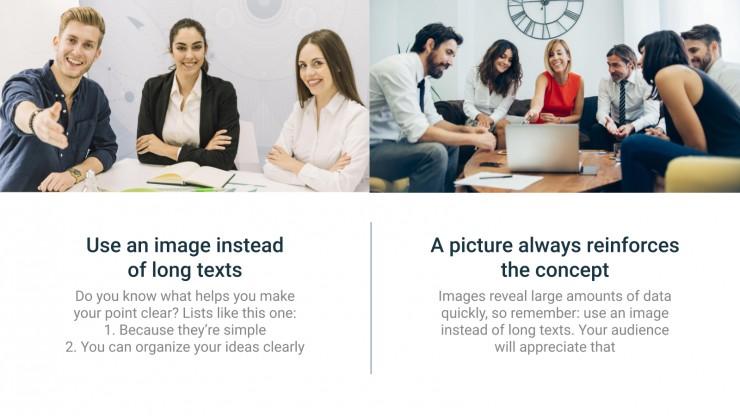 Einfaches Geschäft Präsentationsvorlage