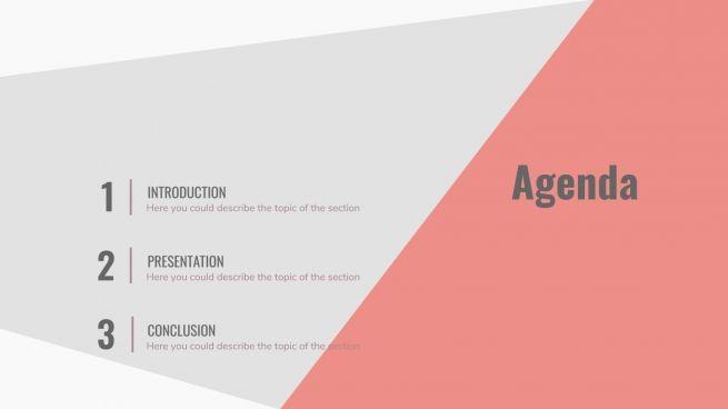 Geometrischer Sport Präsentationsvorlage