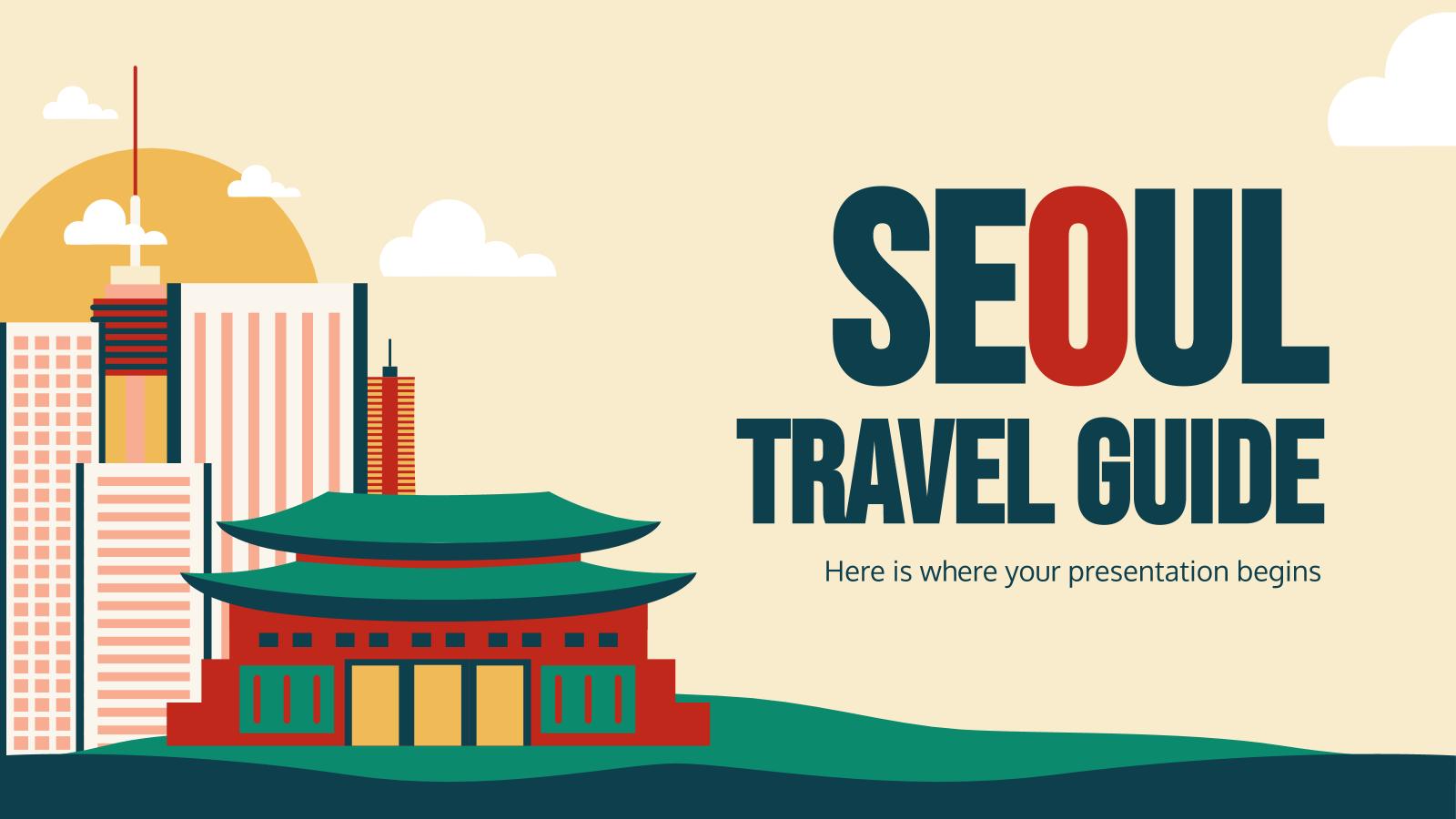 Travel Guide: Seoul presentation template