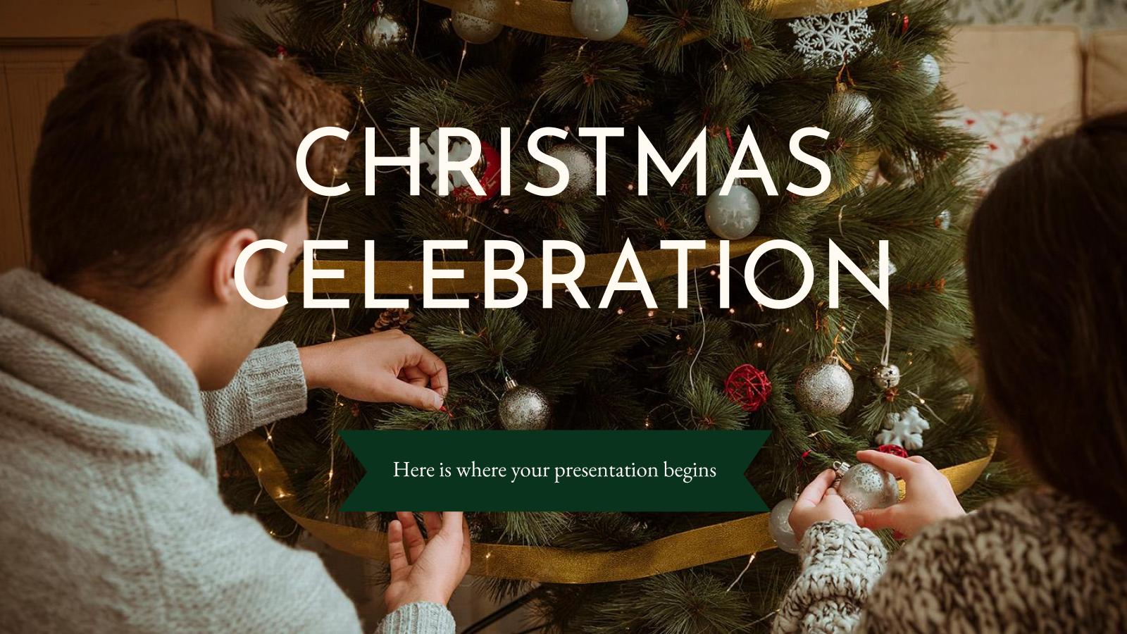 Christmas Celebration presentation template