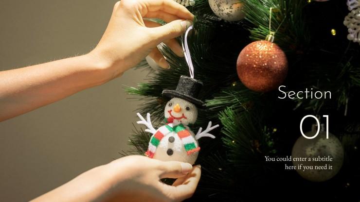 Modelo de apresentação Comemoração de Natal