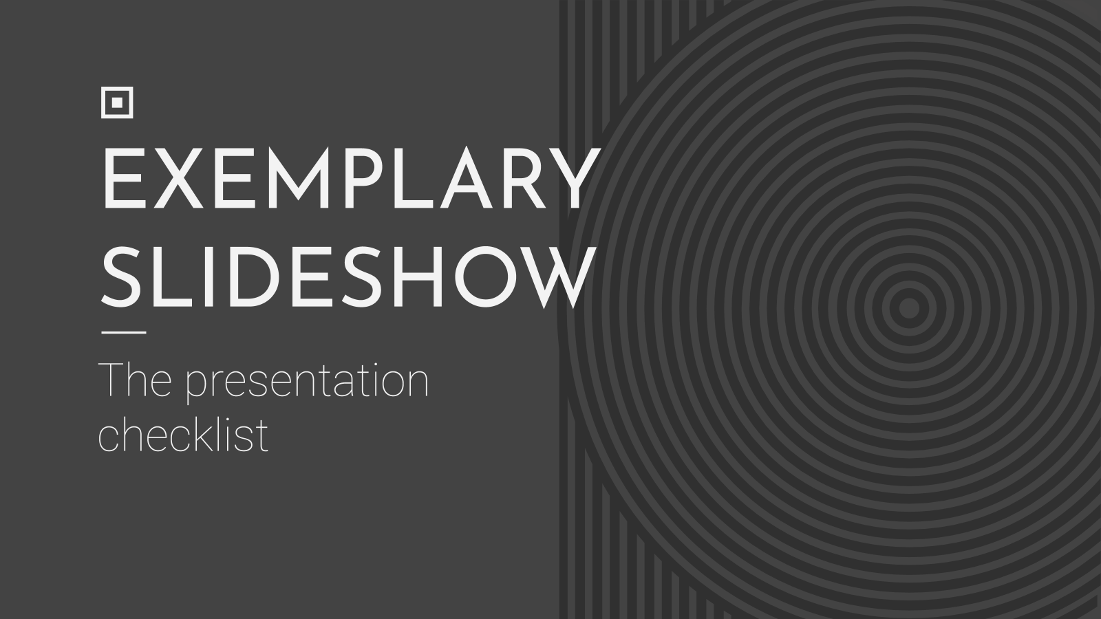 Exemplary Slideshow presentation template