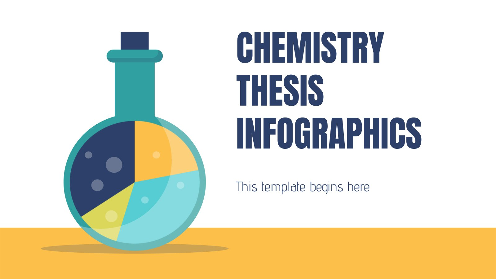 Plantilla de presentación Infografías tesis de química