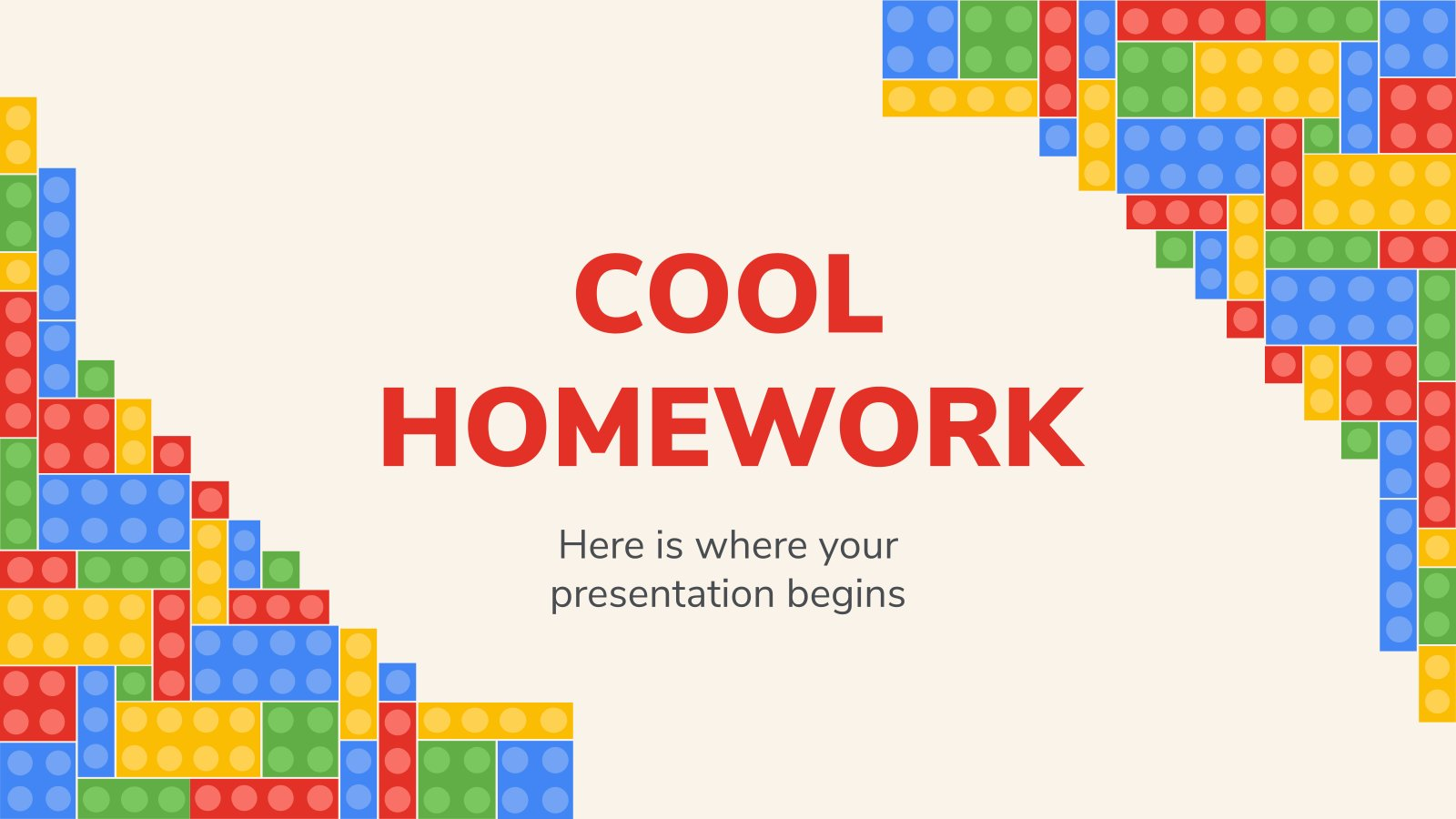 Cool Homework presentation template