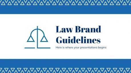 Law Brand Guidelines presentation template