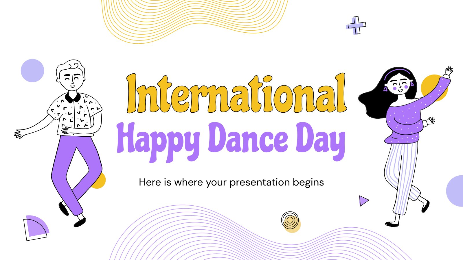 International Happy Dance Day presentation template