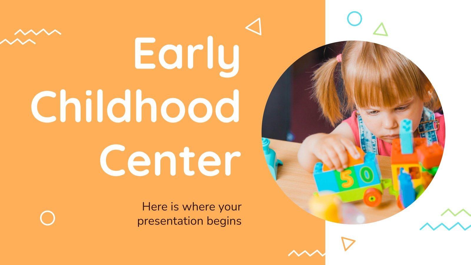 Modelo de apresentação Centro para os cuidados de crianças