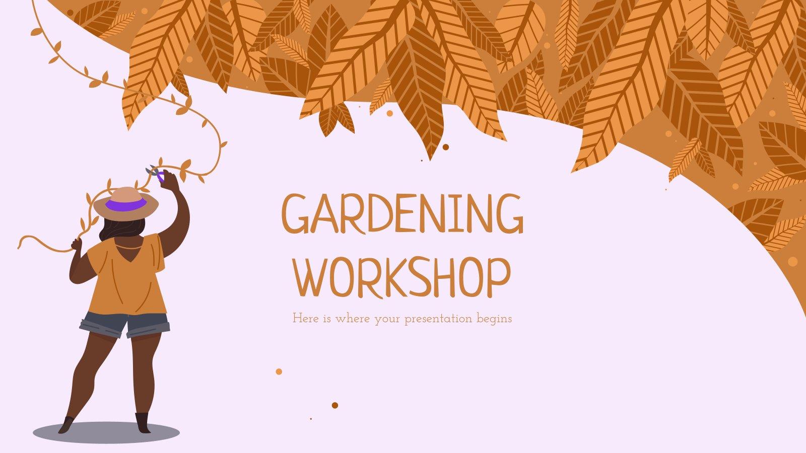Modelo de apresentação Oficina de jardinagem