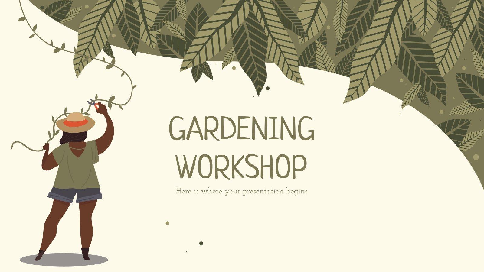 Gardening Workshop presentation template