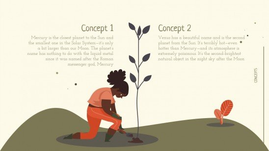 Atelier jardinage : Modèles de présentation