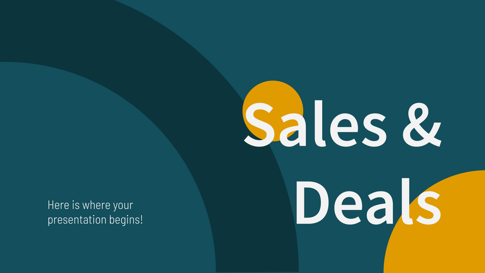 Sales & Deals presentation template