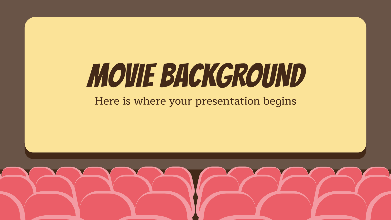 Movie Background presentation template