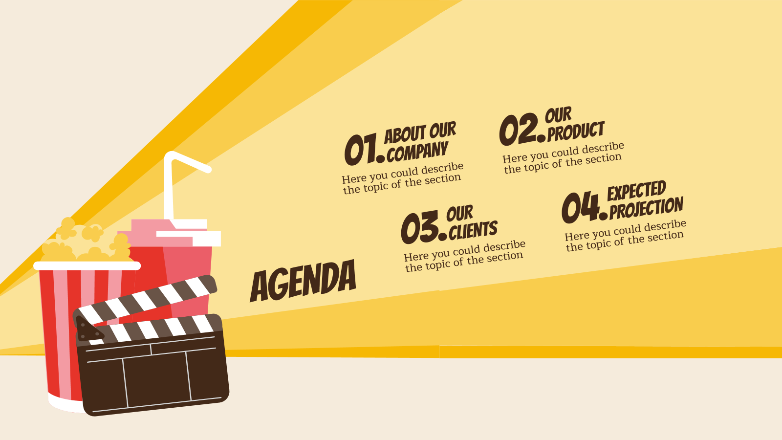 Movie Background Google Slides Theme Powerpoint Template