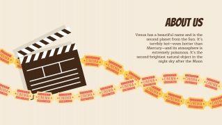 Plantilla de presentación Diapositivas de cine