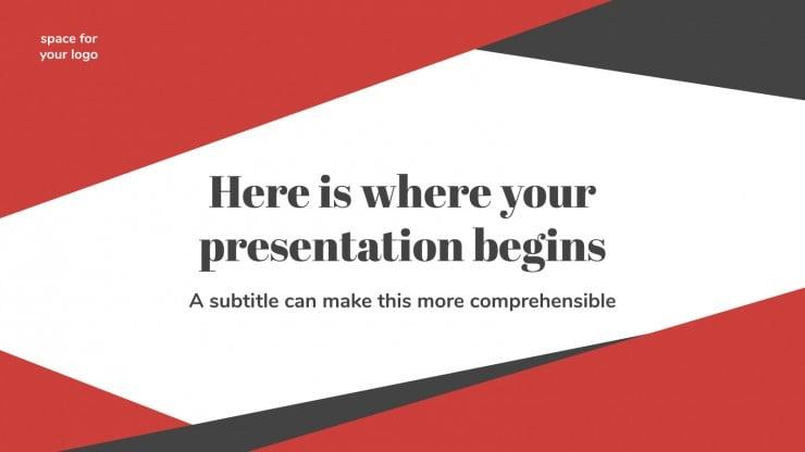 Business Slides presentation template