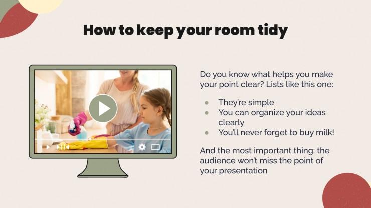 Plantilla de presentación Día de la limpieza de la habitación