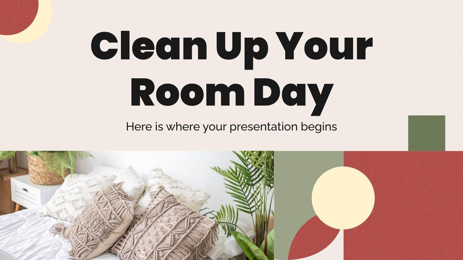 Modelo de apresentação Dia de limpeza do quarto