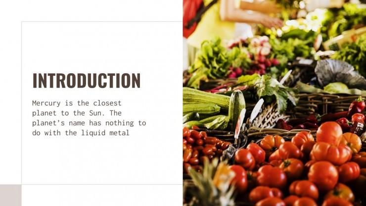 Pitch Deck pour nourriture biologique : Modèles de présentation