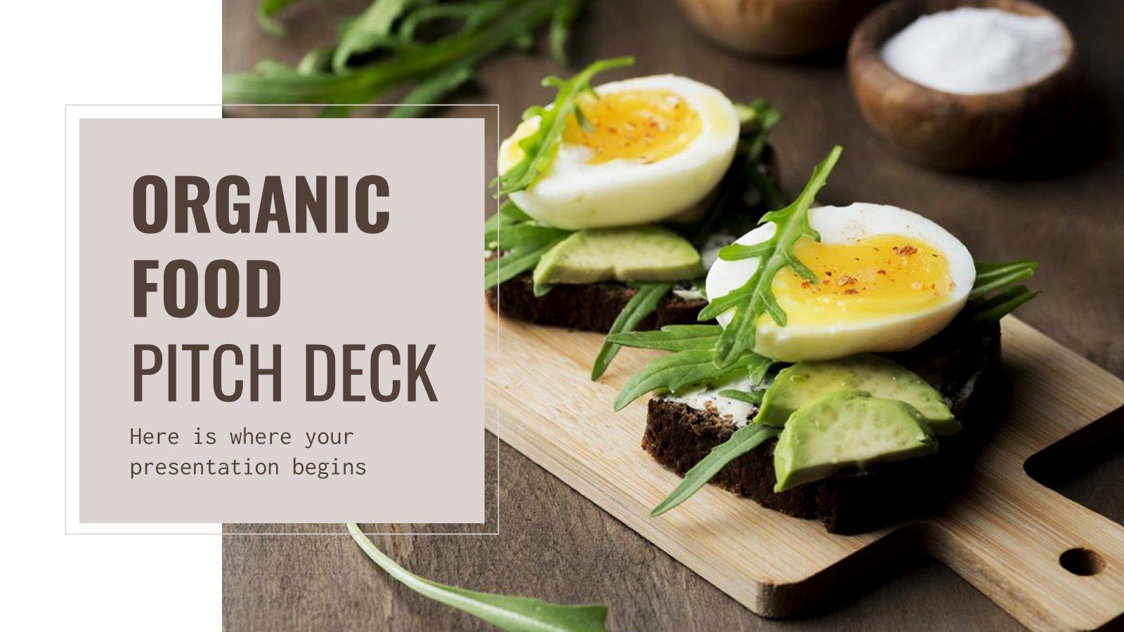 Plantilla de presentación Pitch deck para comida orgánica