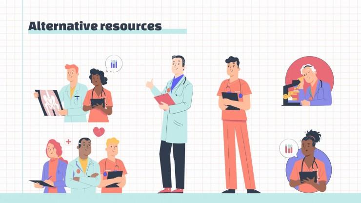 Plantilla de presentación Agenda médica interactiva