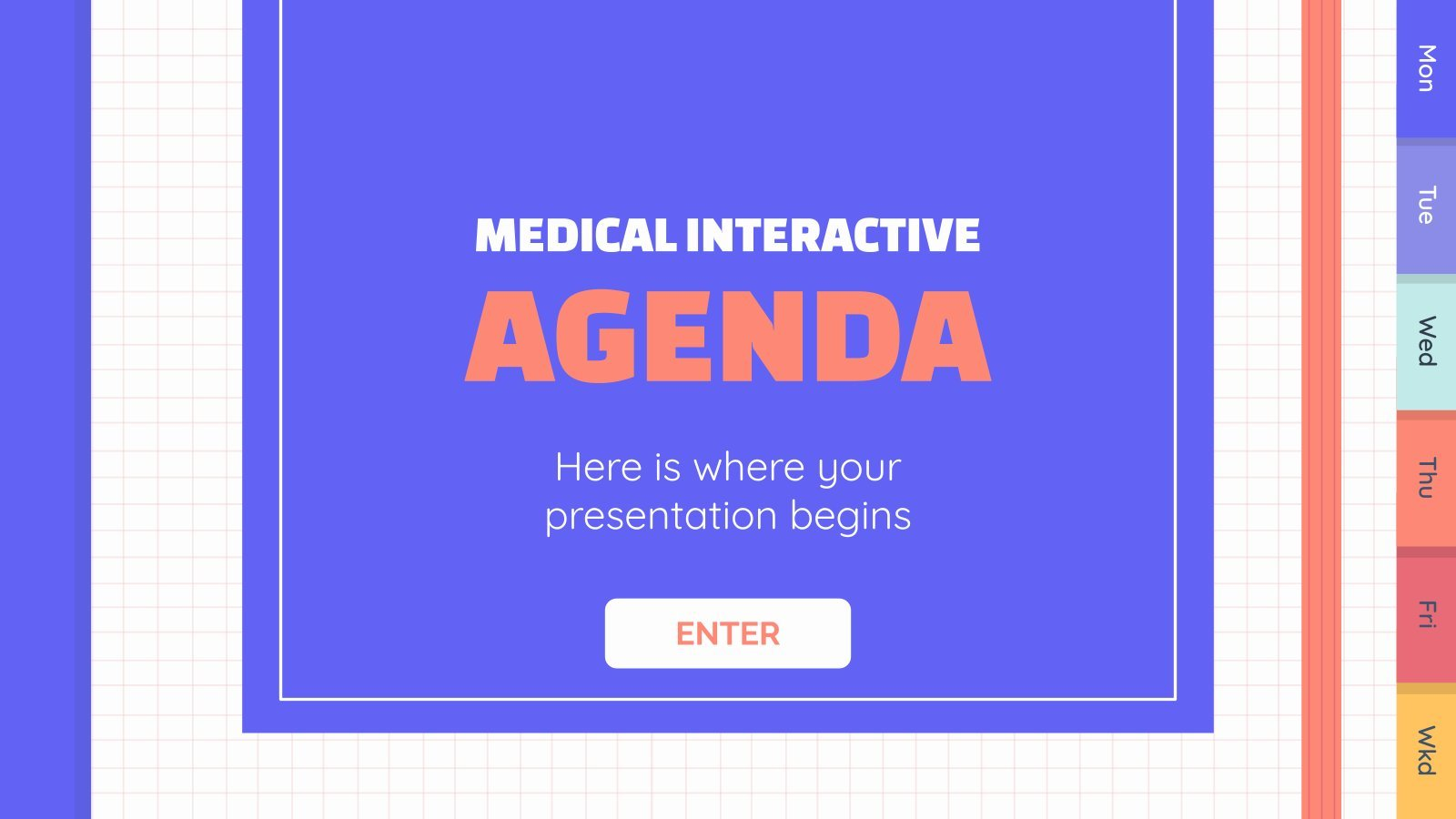Medical Interactive Agenda presentation template
