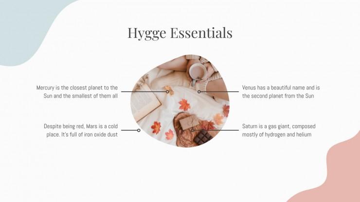 Plantilla de presentación Estilo de vida hygge