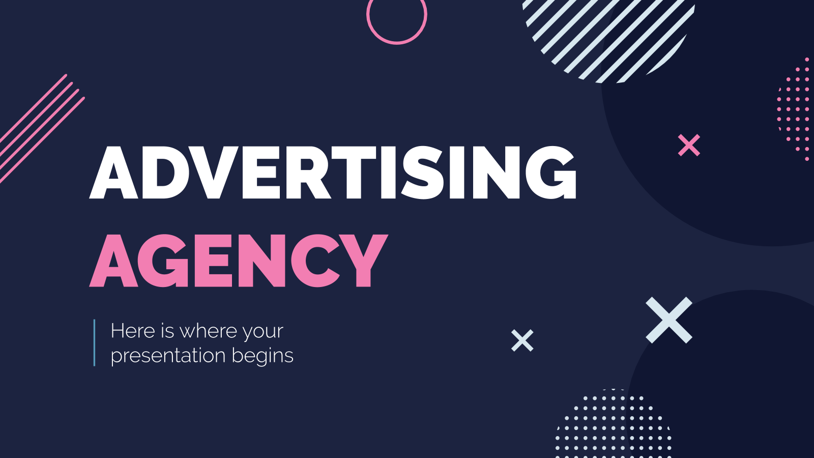 Advertising Agency presentation template