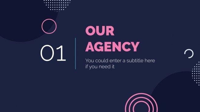 Modelo de apresentação Agência de publicidade