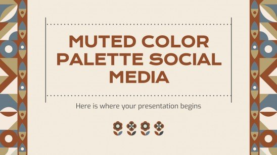 Muted Color Palette Social Media presentation template