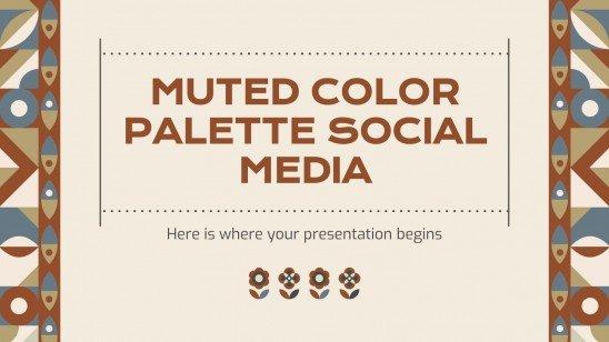 Plantilla de presentación Paleta de colores apagados para redes sociales